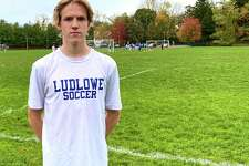 Ludlowe senior Calum Crawford at practice at Roger Ludlowe Middle School Tuesday afternoon. Crawford is an All-FCIAC midfielder and among the GametimeCT 25 players to watch this season.