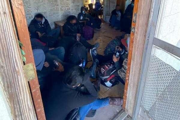 U.S. Border Patrol agents discovered these immigrants inside a stash house in San Ygnacio.