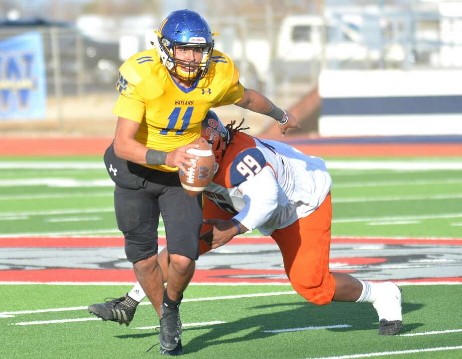Quarterback Nick Quintero will lead the Wayland Baptist offense when the Pioneers host OPSU on Saturday at 2 p.m. Photo: Nathan Giese/Planview Herald