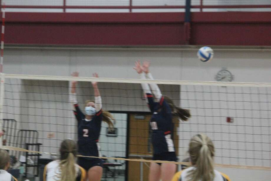 Big Rapids' volleyball team ended its home season with a 3-0 sweep over Tri County on Wednesday. Photo: John Raffel