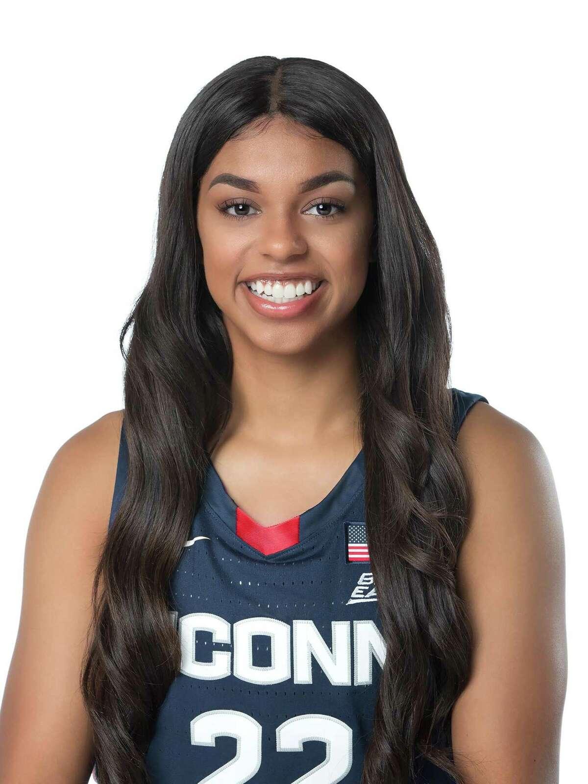 UConn redshirt-junior guard Evina Westbrook, 2020-21 women's basketball season.