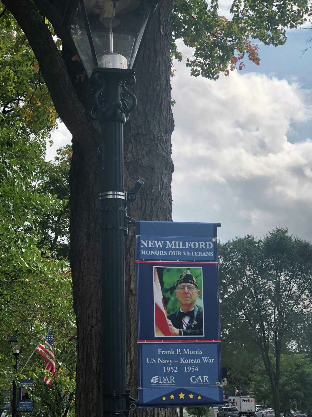 Residents can learn more about New Milford veterans from the banners.