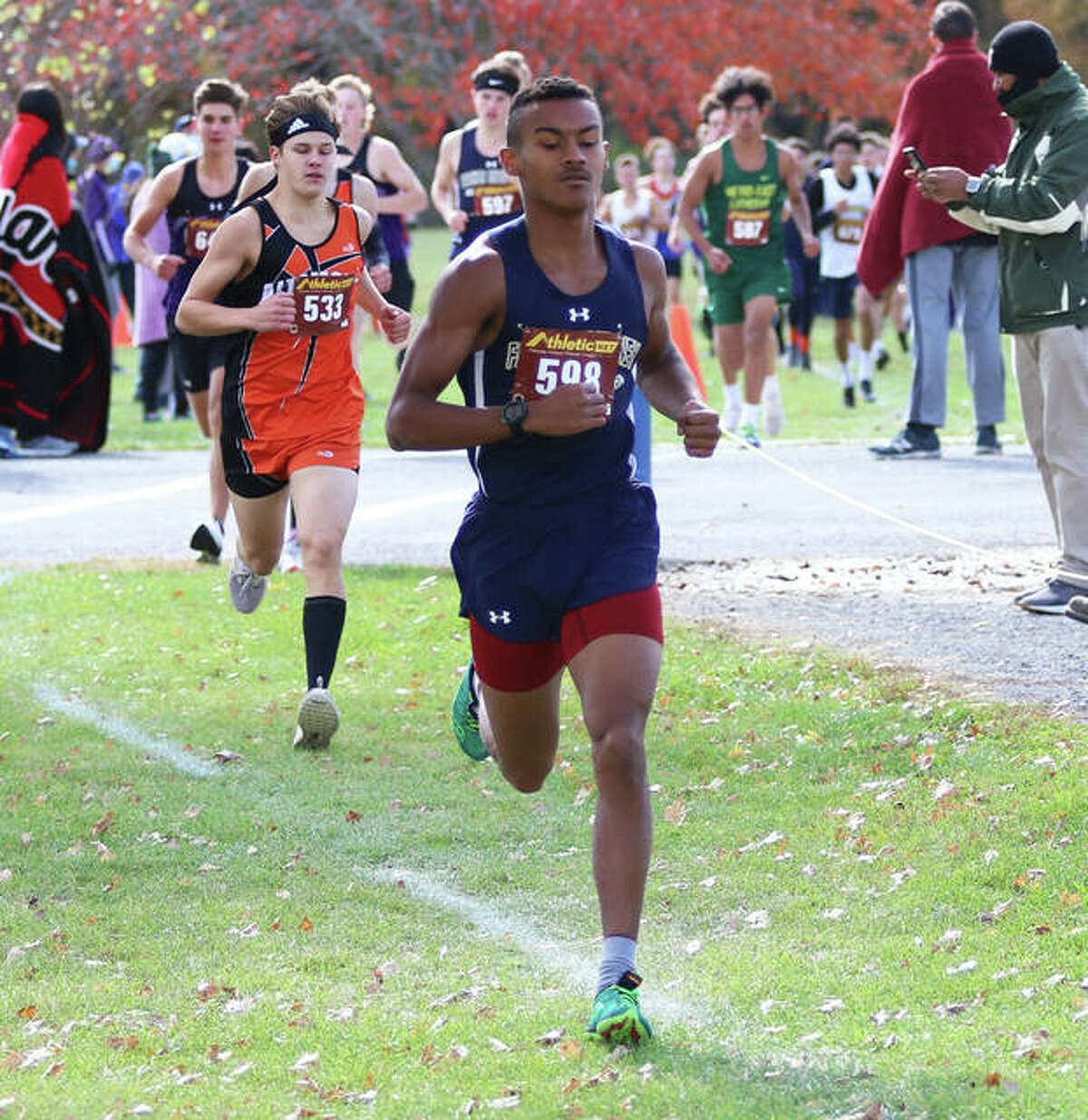 Father McGivney senior Tyler Guthrie won his second straight regional championship on Oct. 24 in Carlinville.