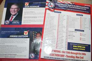 These mailers sent by the Texas Pro-Business Coalition PAC during the 2020 election season have highlighted the role of two new political action committees formed in 2020 that are both hyper-focused on the township election.