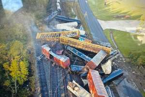 There was a train derailment on the Kansas city Southern track in Mauriceville near the old 62 crossovers Oct. 29, 2020.