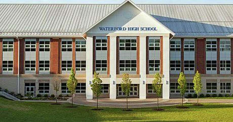 """Waterford High School was evacuated Thursday morning after the school """"received a call indicating a threat,"""" police said. Photo: Waterford High School Photo"""