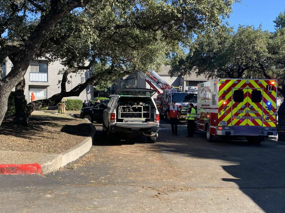 One person has died in an apartment fire on the Northeast Side, according to the San Antonio Fire Department. Photo: Taylor Pettaway