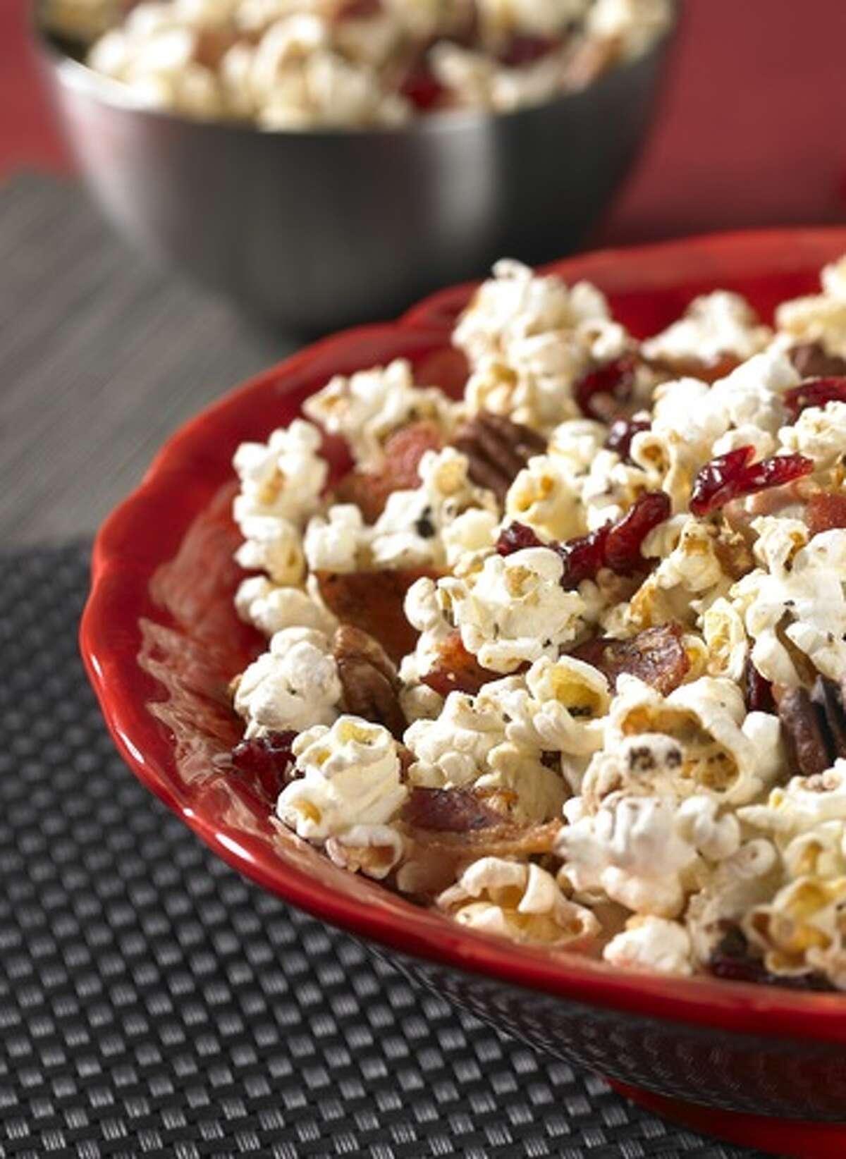 Maple Bacon Popcorn is a crunch Halloween treat.