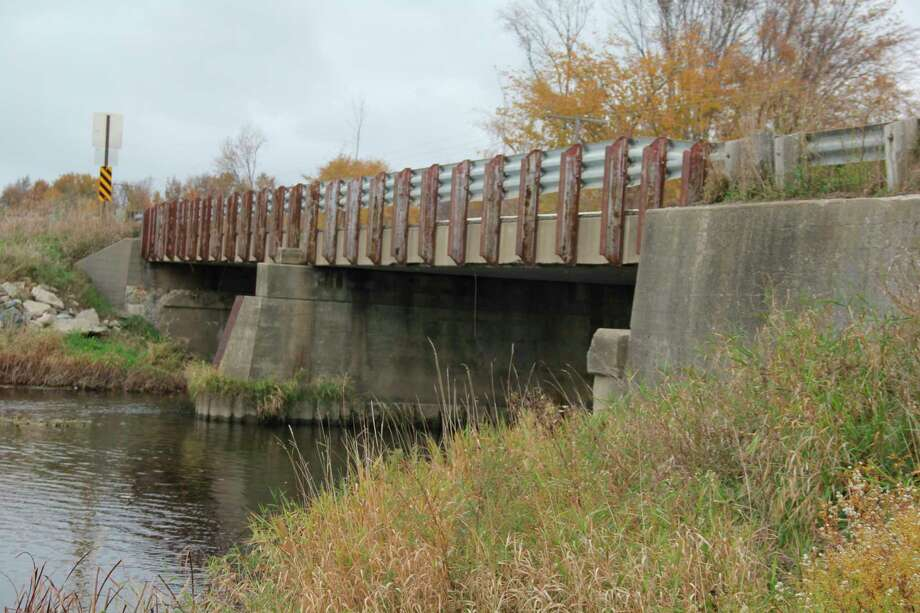 The Pigeon River bridge in McKinley Township. The bridge is scheduled to be replaced in 2022. (Robert Creenan/Huron Daily Tribune)