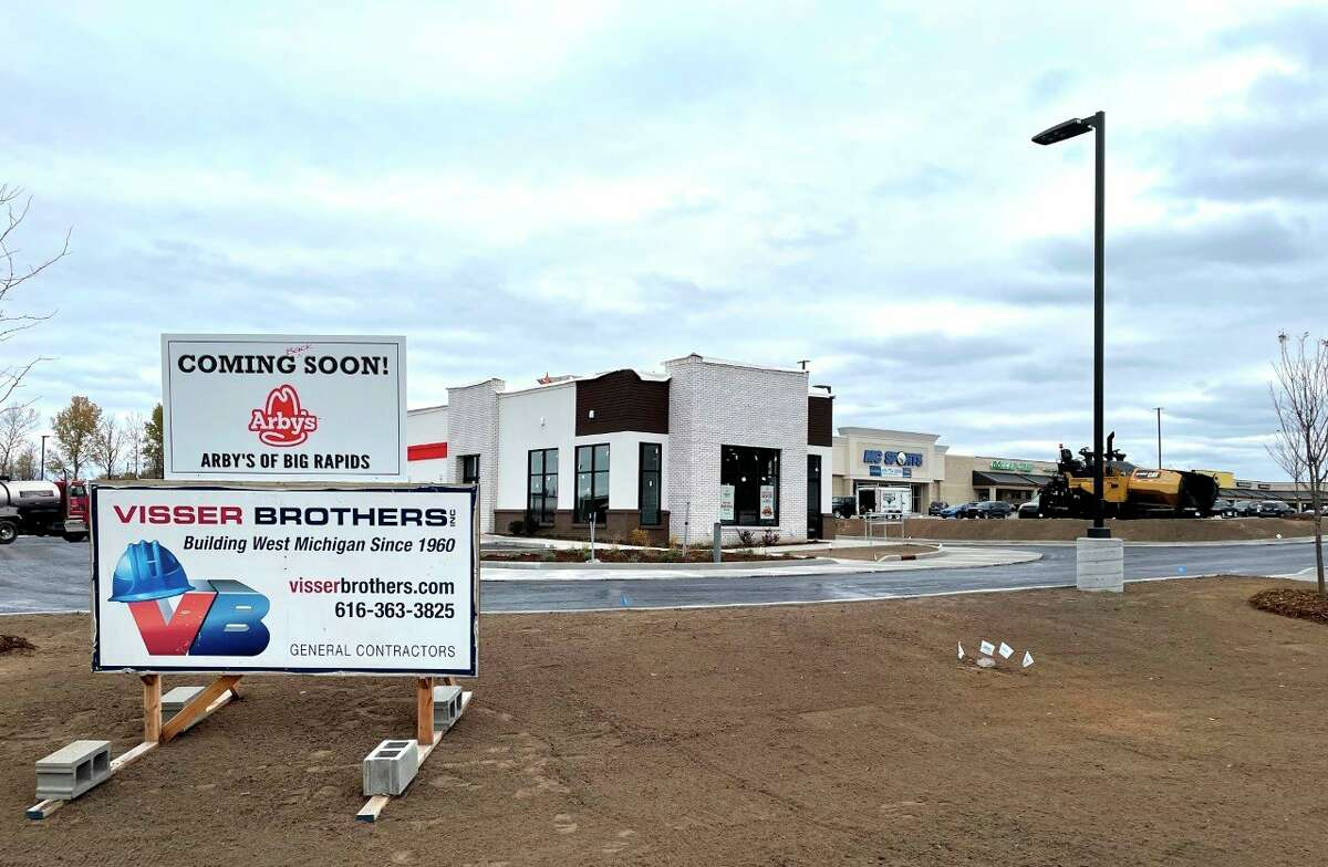 This new Arby's location in Big Rapids, located at 1298 Perry Avenue, is set to open in December. The location will house 32 parking space, 43 seats and a drive-thru option. (Pioneer photo/Bradley Massman)