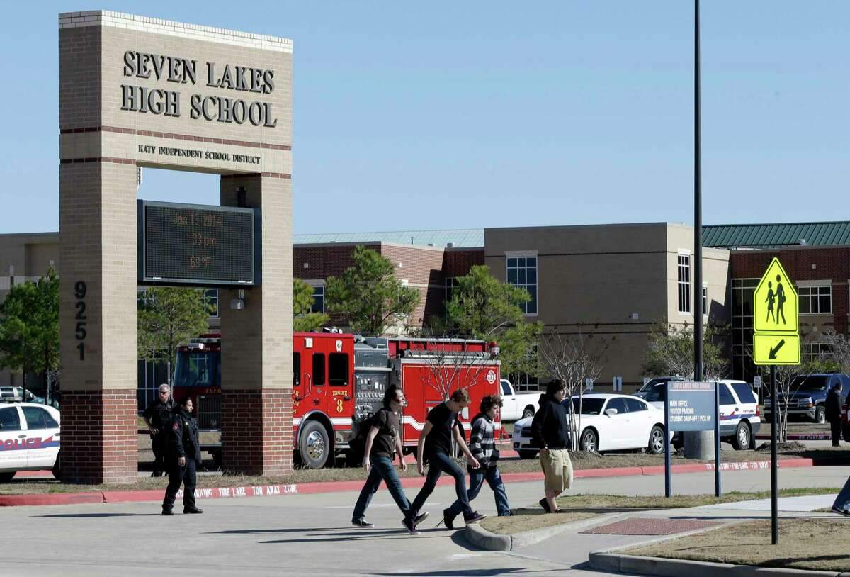 All students attending Katy ISD's Seven Lakes High School, pictured in 2014, will move to online-only classes for three school days due to an outbreak of COVID-19 at the campus.