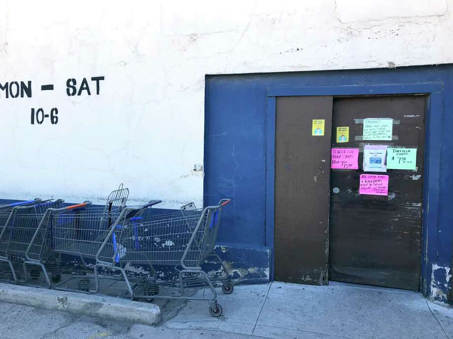 AAA Freight Salvage Groceries is open 10 a.m. to 6 p.m. Monday through Saturday at 1111 S. Presa St. Photo: Paul Stephen / Staff