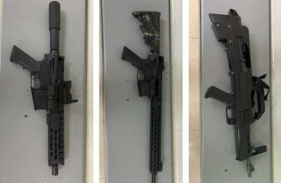 U.S. Border Patrol agents said they recovered these weapons near the riverbanks of the Rio Grande. An investigation is underway. Photo: Courtesy Photo /U.S. Border Patrol