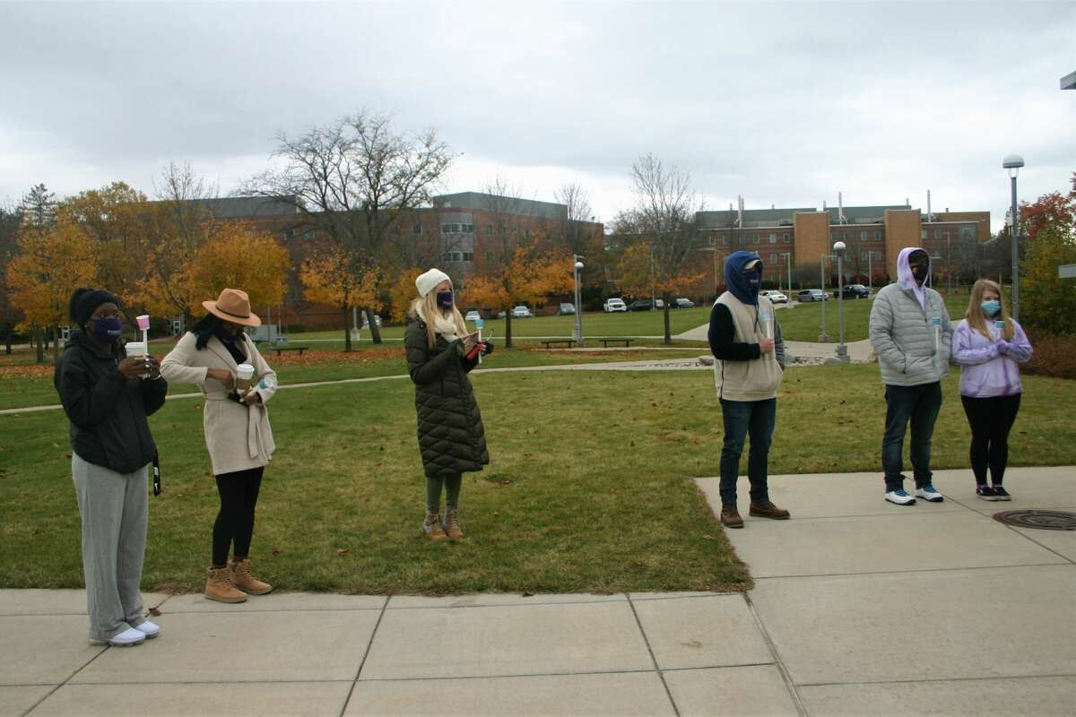 The Anti-violence Alliance at Ferris State University held a candle light vigil to honor those who lost their lives to domestic violence in the last year. According to statistical analysis, 1 in 4 women and 1 in 13 men experience domestic violence in their lifetime.