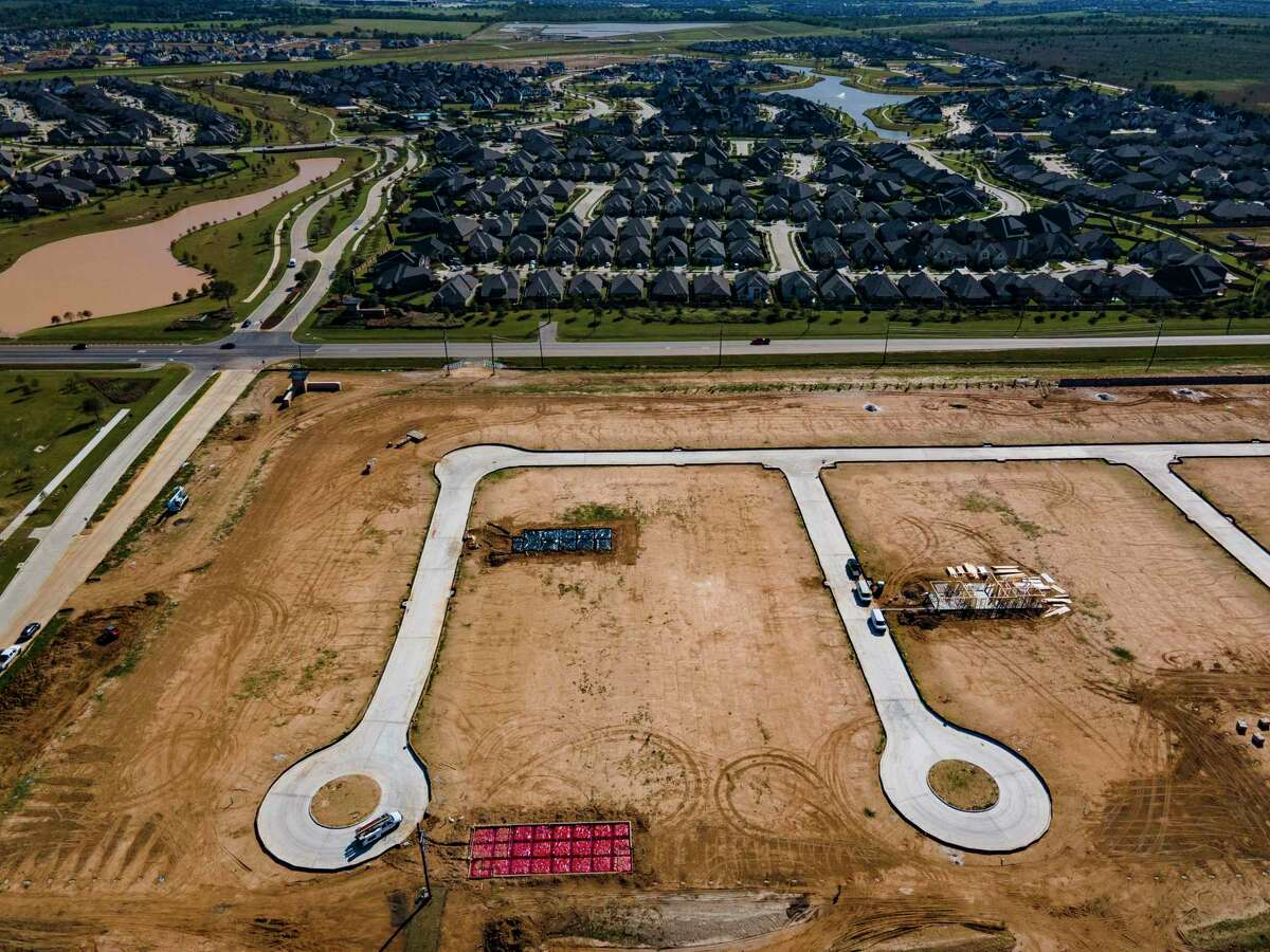 Development of new homes continues just north of Freeman Road and the Elyson development west of the Grand Parkway and north of Interstate 10 in Katy, Thursday, Oct. 29, 2020. The area's rapid growth has also added to the rapid growth of registered voters in Harris County.
