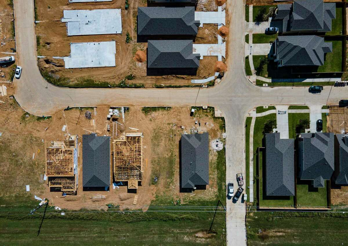 New homes in the Katy Pointe neighborhood have added to the rapid growth of registered voters in Harris County.