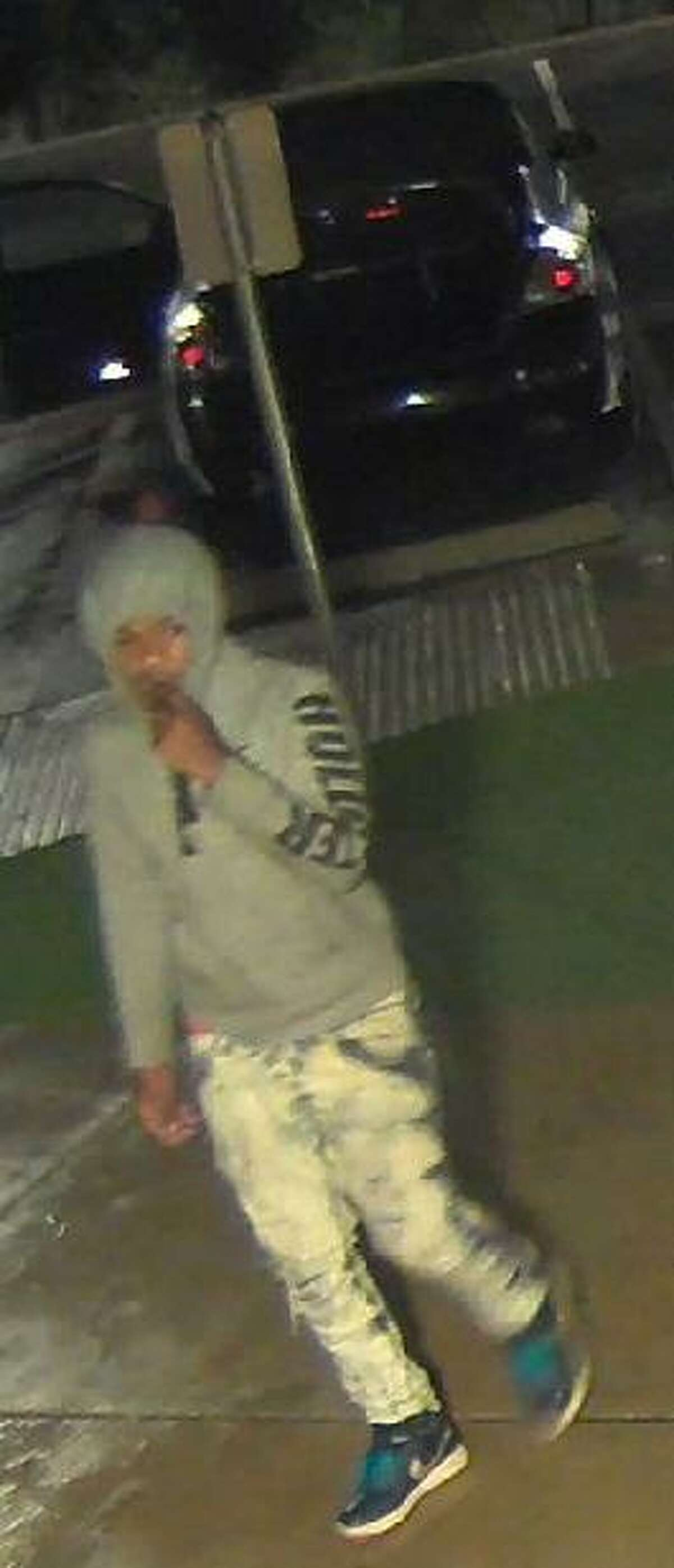 Three men are being sought in connection with a burglary at a North Side gun range Oct. 26.