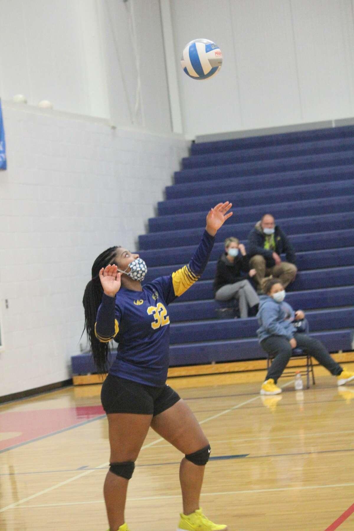 Crossroads girls volleyball team held back Baldwin in three sets on Thursday.