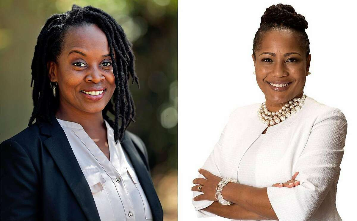 Challenger Carroll Fife (left) unseated two-term Oakland City Council incumbent Lynette Gibson McElhaney (right) in the District 3 race.