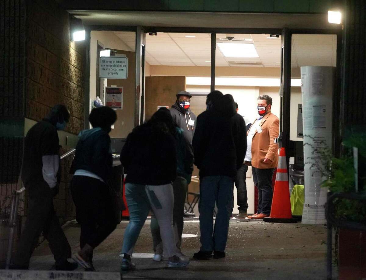 Voters enter the Kashmere MultiService Center in Houston on Oct. 29, 2025. That location, along with seven others are open until 7 p.m. Oct. 30.