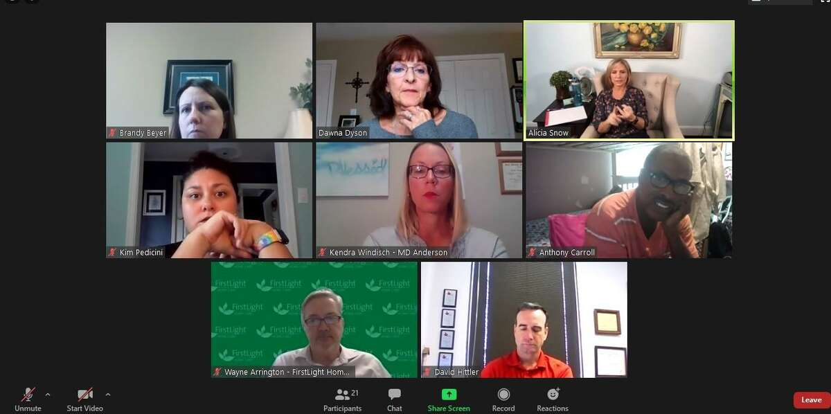 The Greater Tomball Area Chamber of Commerce Health Wellness Alliance hosted an informative session via Zoom Tuesday, Oct. 27, with psychologist Alicia Snow (top row, far right) to discuss how people's daily lives have been affected during COVID-19.