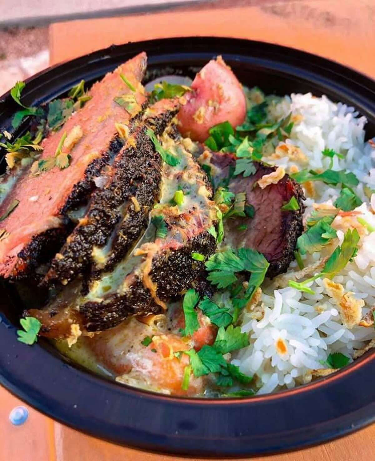 Curry Boys BBQ is now serving Southeast Asian rice bowls topped with Texas-style smoked meats.