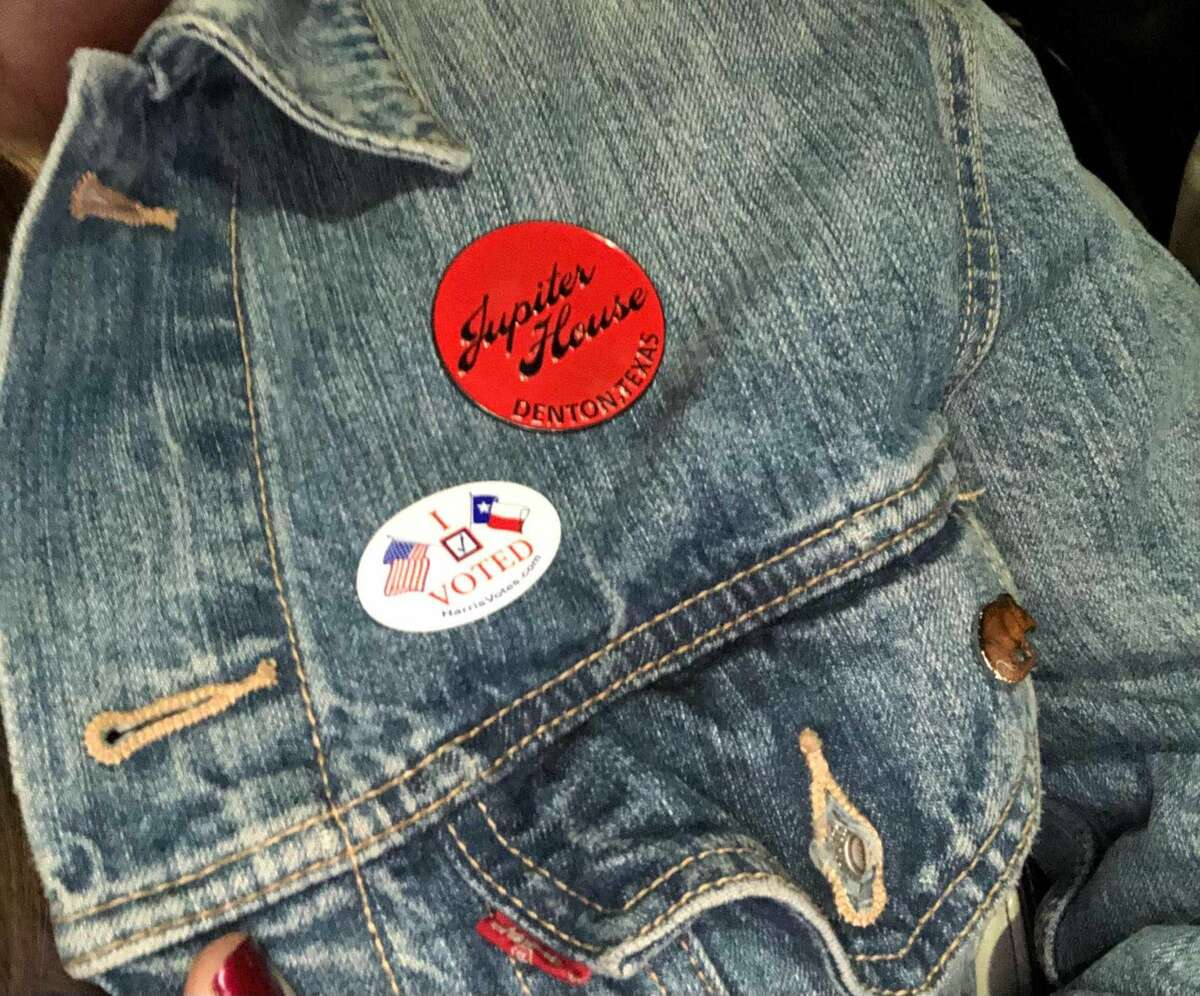 Added my voting sticker to my best denim jacket.