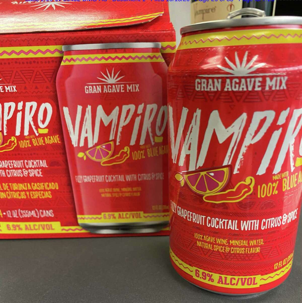 Los Angeles-based Vampire Family Brands LLC filed a federal lawsuit against H-E-B in Beaumont over the San Antonio grocery chain selling a cocktail mix called Vampiro. Vampire alleged the name Gran Agave Mix Vampiro ( vampiro is Spanish for vampire), infringes on trademarks it owns or controls. Vampire abruptly dropped the lawsuit against H-E-B earlier this month.