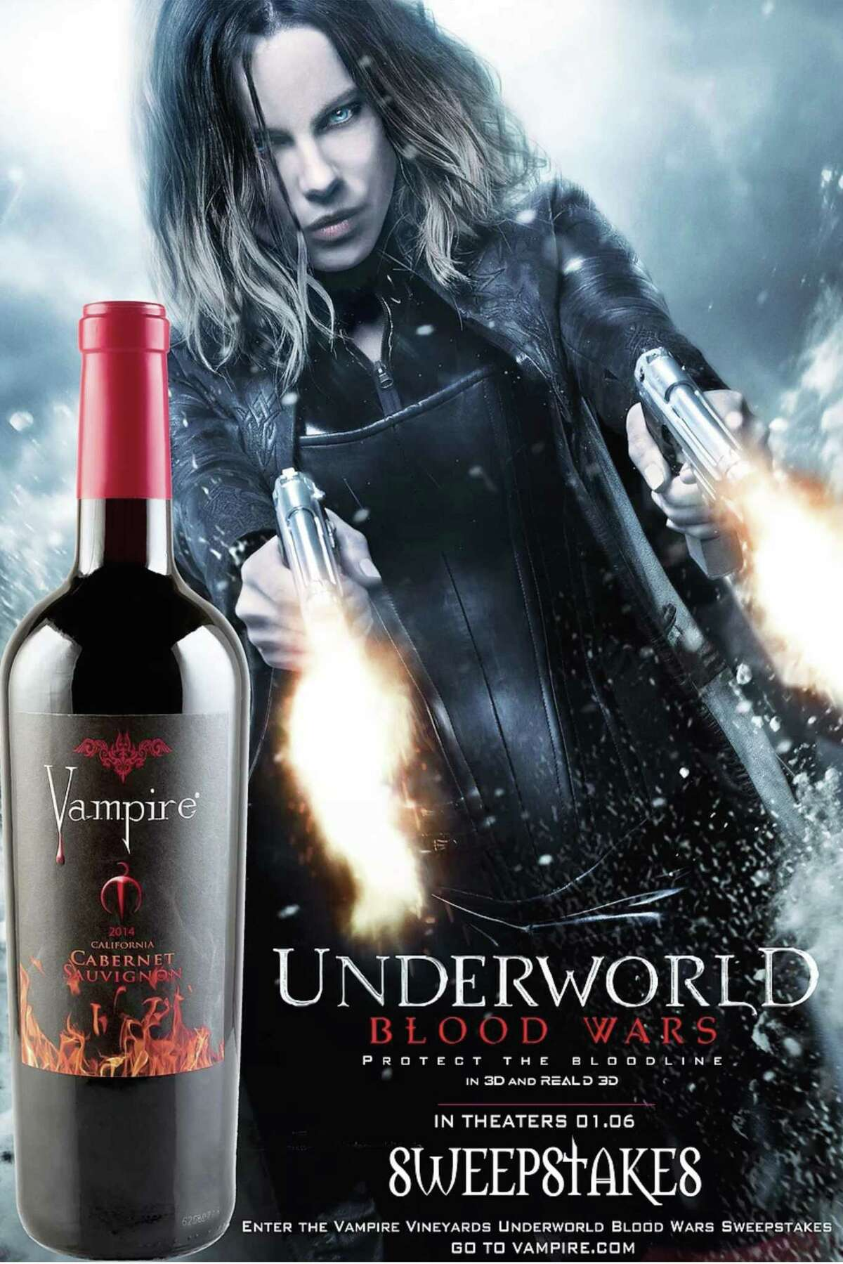 Los Angeles-based Vampire Family Brands LLC and Las Vegas-based Patco Brands are fighting over the latter?•s use the name Gran Agave Mix Vampiro, which is sold in H-E-B. Vampire Family Brands?• produces a variety of wines, include Vampire Cabernet Sauvignon.