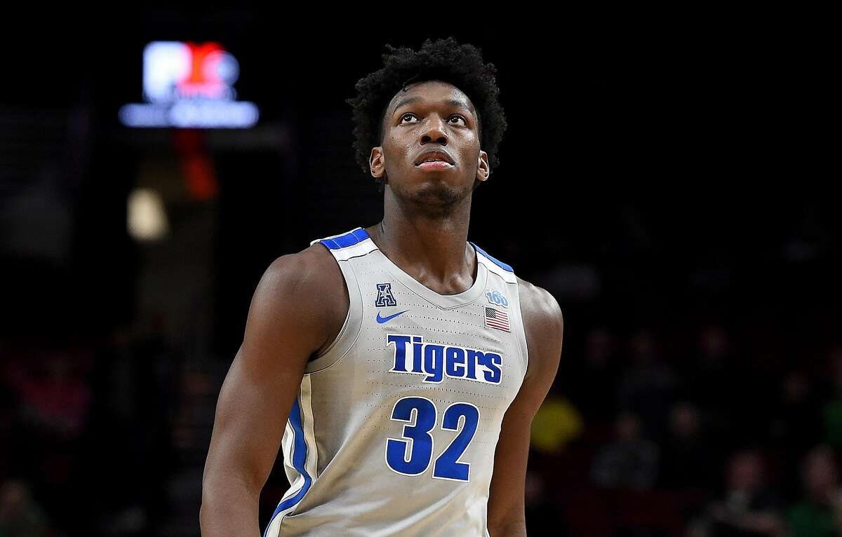 James Wiseman of Memphis walks up court during a game against Oregon at Moda Center in Portland, Oregon, on November 12, 2019. (Steve Dykes/Getty Images/TNS)