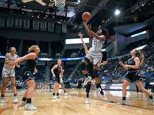 UConn's Christyn Williams during a game in Hartford in 2019.
