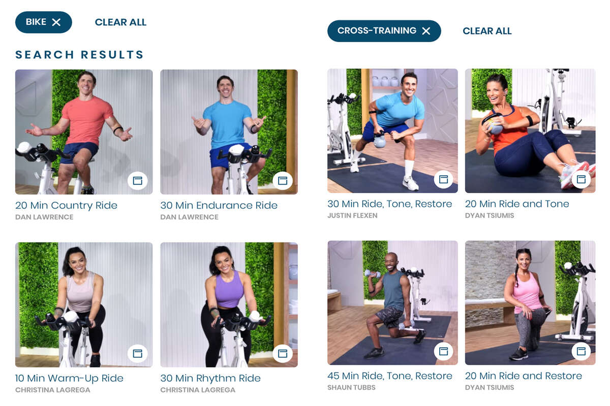 Class offerings for on & off the bike at MYX Fitness