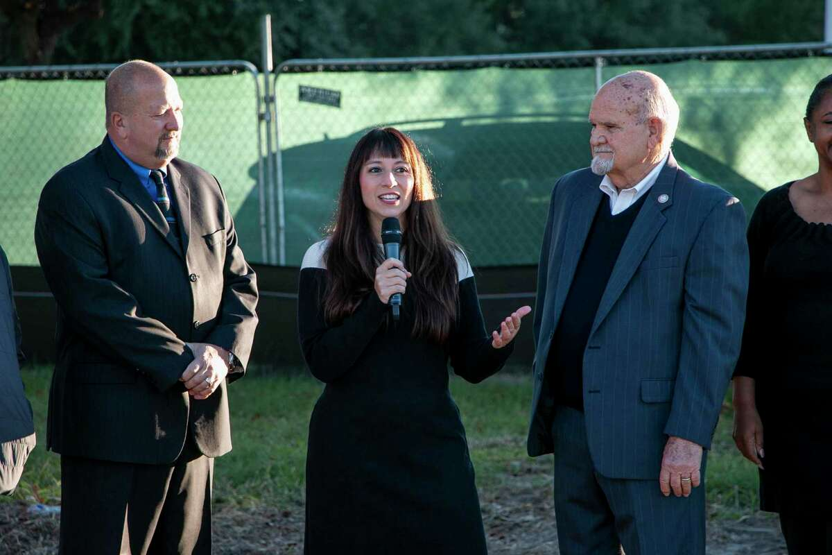 Humble High School, Quest Early College High School, and Middle School 10 groundbreakings were held on Oct. 30 as a symbol of the beginning of the work to renovate the two high schools and building the new middle school in the southern area of the district.