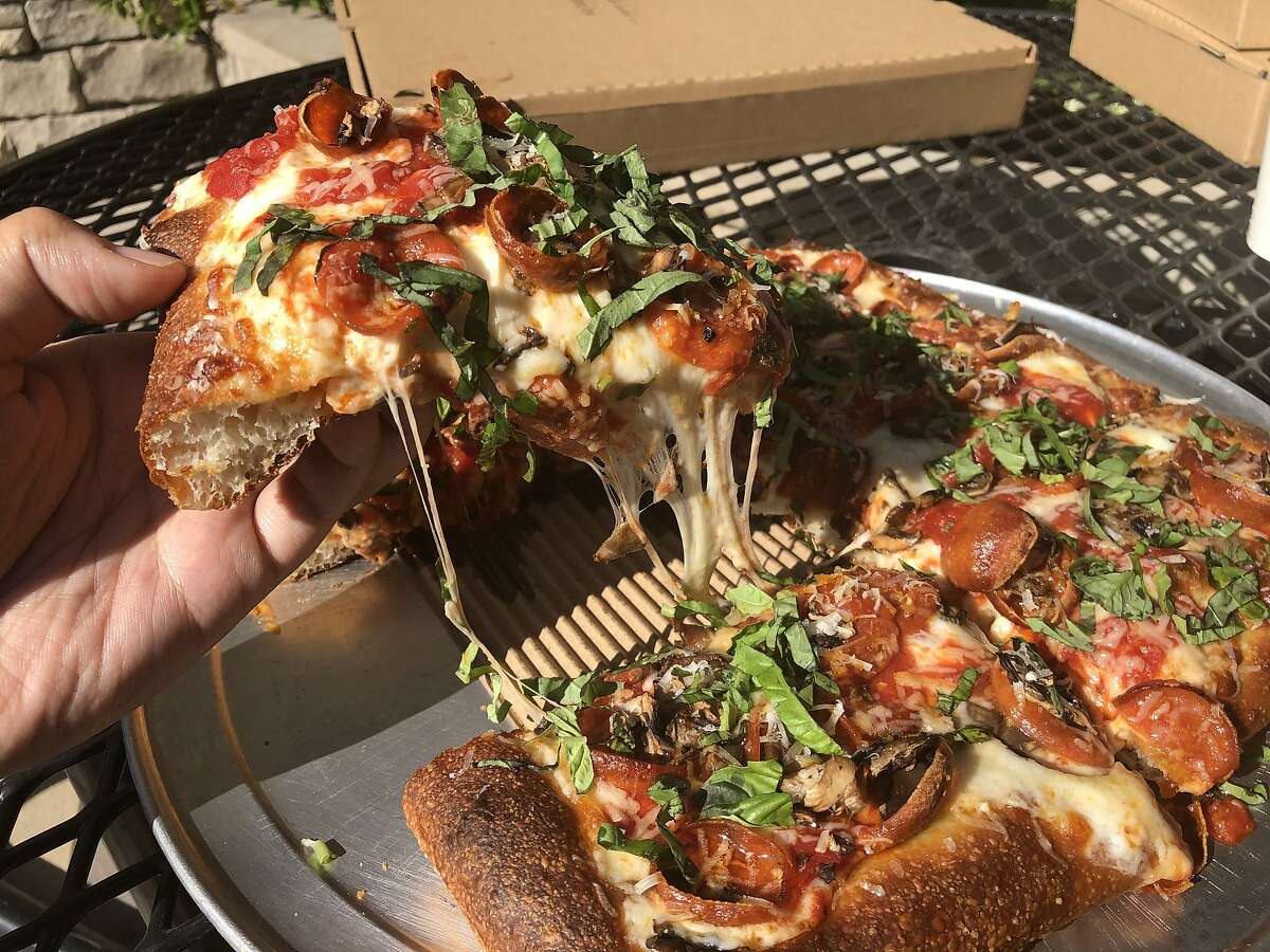 The Mush-a-Roni pan pizza from PizzaLeah in Windsor, Calif.