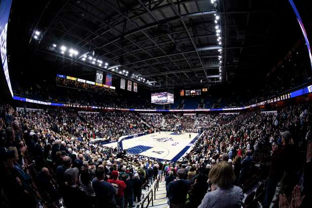 UNCASVILLE, CT - MARCH 09: A general view during the American Athletic Conference women's basketball championship at Mohegan Sun Arena on March 9, 2020 in Uncasville, Connecticut. (Photo by Benjamin Solomon/Getty Images)
