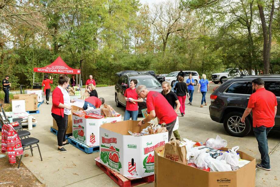 The 2019 holiday food drive for the Montgomery County Food Bank brought in around 55,000 pounds of food. This year's drive begins in November and will end Dec. 4. Photo: Provided / DERRICK BRYANT