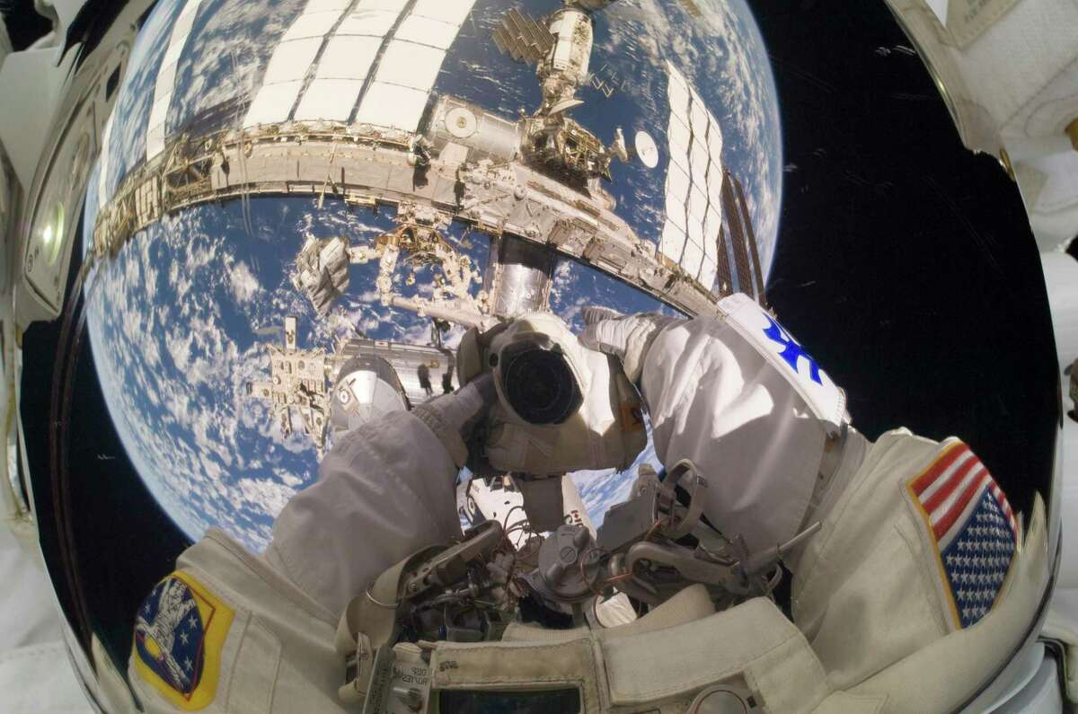 (17 May 2010) --- NASA astronaut Garrett Reisman, STS-132 mission specialist, takes a busy