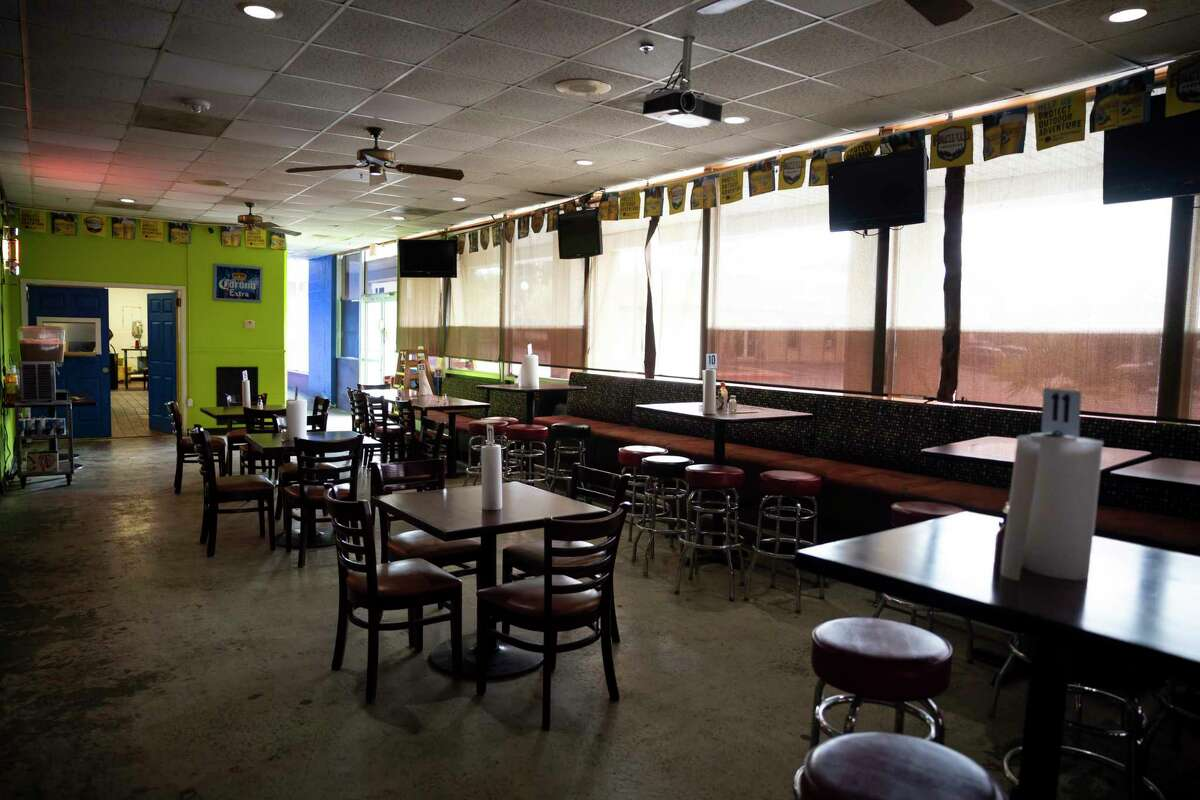 Micheladas El Patio #2 is empty as an investigation is underway into the deaths of Julio Cardenas and Jorge Galeas, Thursday, Oct. 15, 2020, in Conroe.