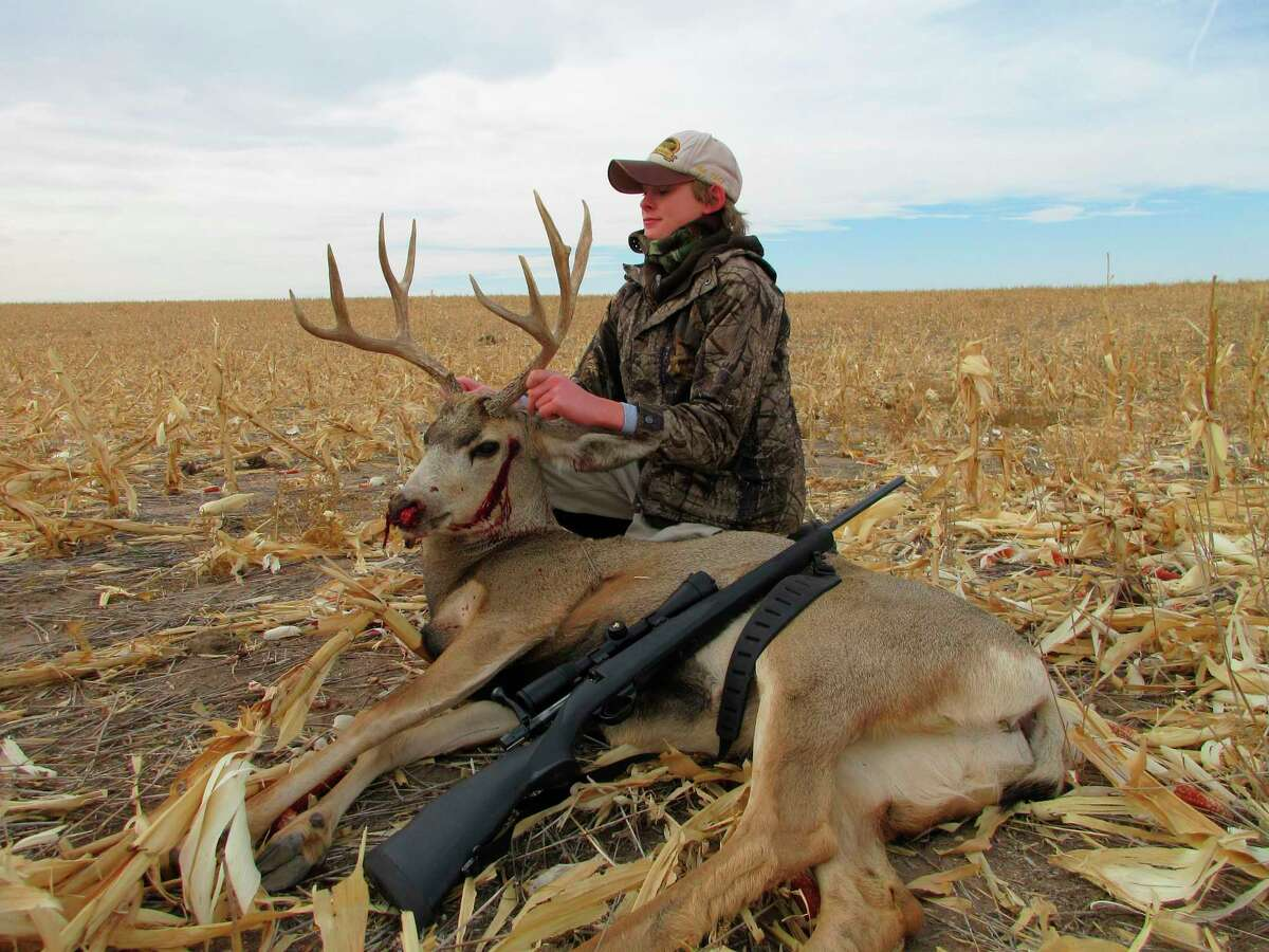Charles Montgomery is pictured with his prized trophy in Colorado. (Courtesy photo)