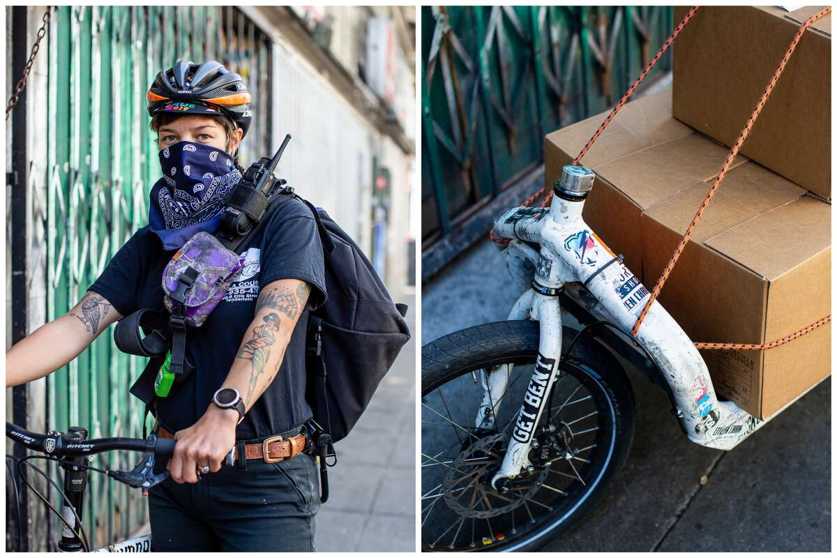 Monica Rocha is a bike courier for Stella Courier, a small delivery company based in San Francisco.