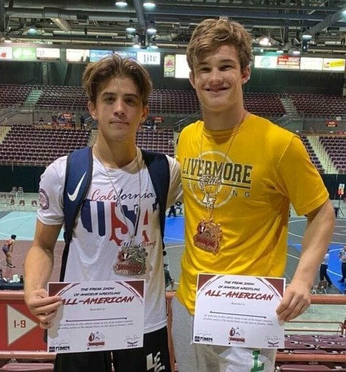 Livermore Elite Wrestling Club enters Freakshow: Bailey and Cowan place