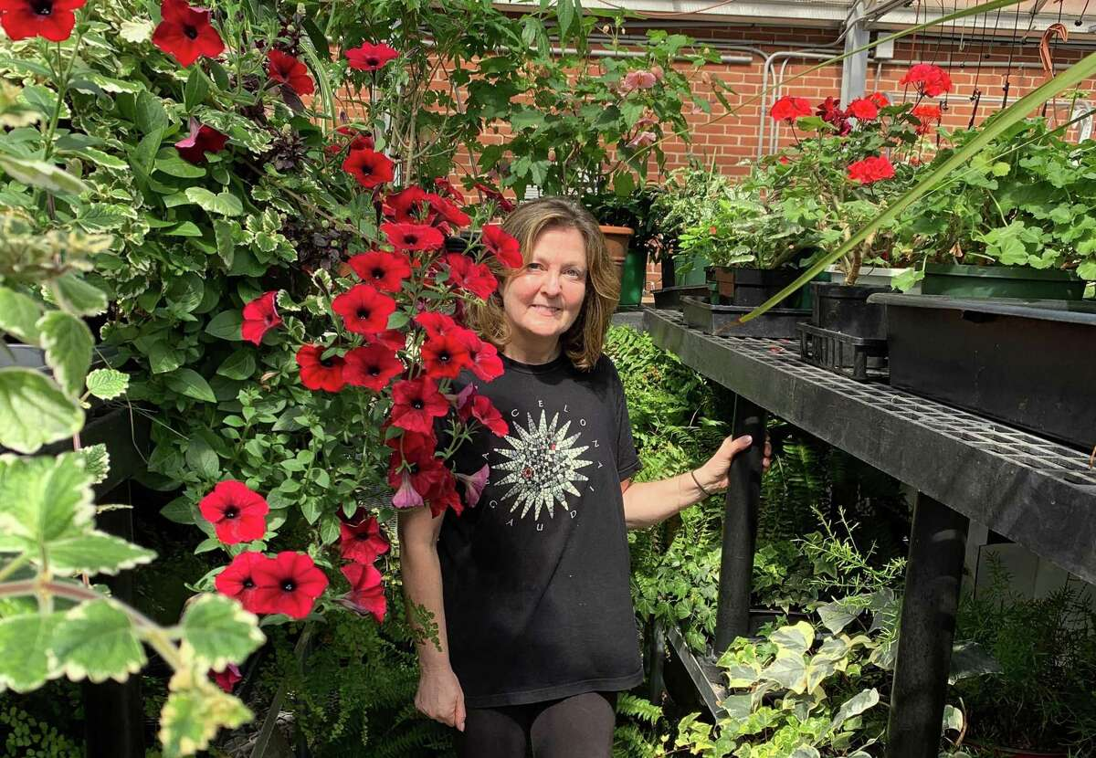 Wilton Garden Club member Karen Murchison received the Joyce P. Harris Award, for outstanding horticulture achievement for her work in the club's greenhouse.