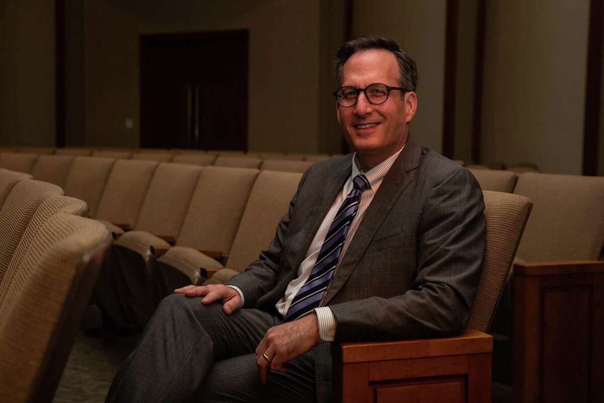 Rabbi David Lyon poses for a portrait at Congregation Beth Israel on Oct. 14, 2020. Rabbi Lyon will succeed Rabbi Karff in the Three Amigos, partnering with Rev. Lawson and Archbishop Fiorenza to continue their interfaith work in social justice.
