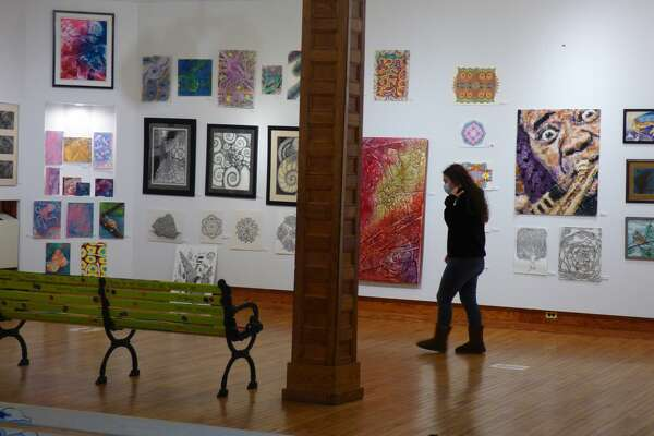 The Ramsdell Regional Center for the Arts is showcasing the art of Mary Wahr at its Hardy Hall gallery. The retrospective art exhibit features around 300 works of art. (Scott Fraley/News Advocate)