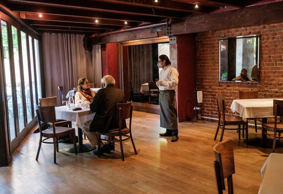 Piperade and other San Francisco restaurants that had been given the go-ahead to increase their customer capacity to 50% from the current 25% beginning Tuesday will now have to wait. Photo: Photos By Nick Otto / Special To The Chronicle