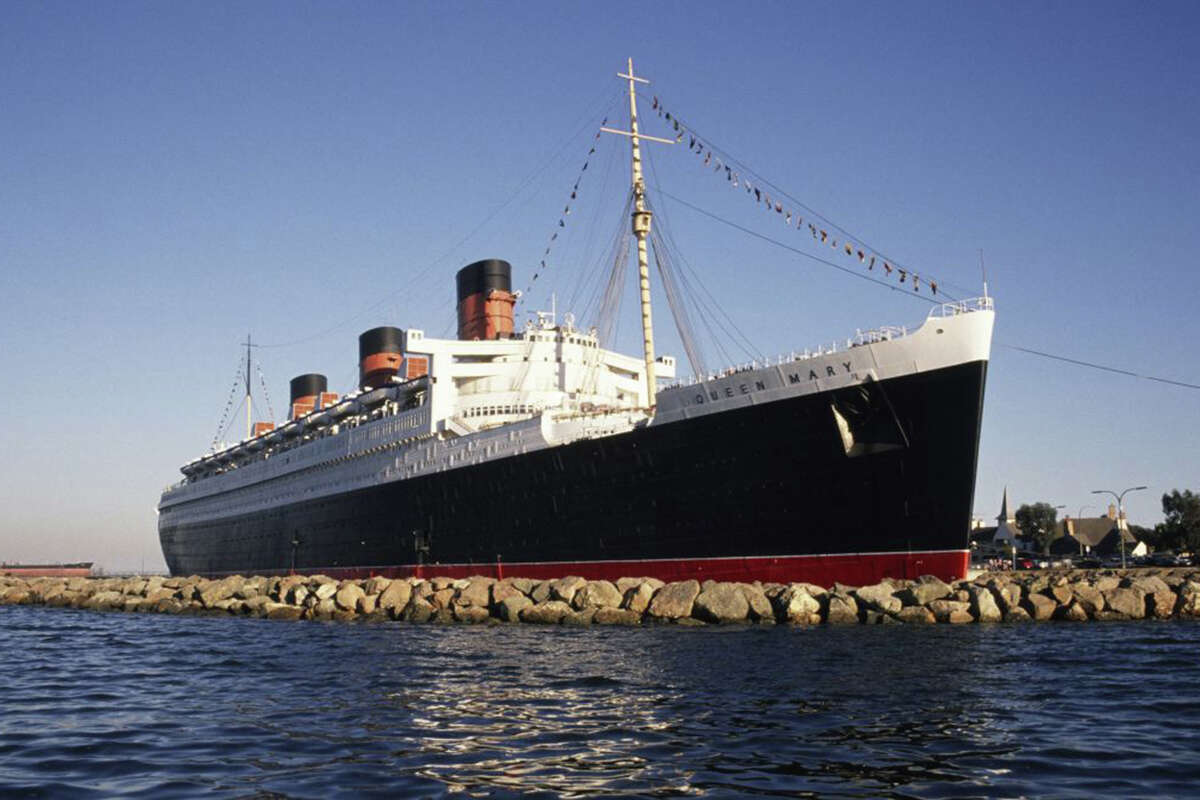 The Queen Mary in 1989, during Disney's ownership.