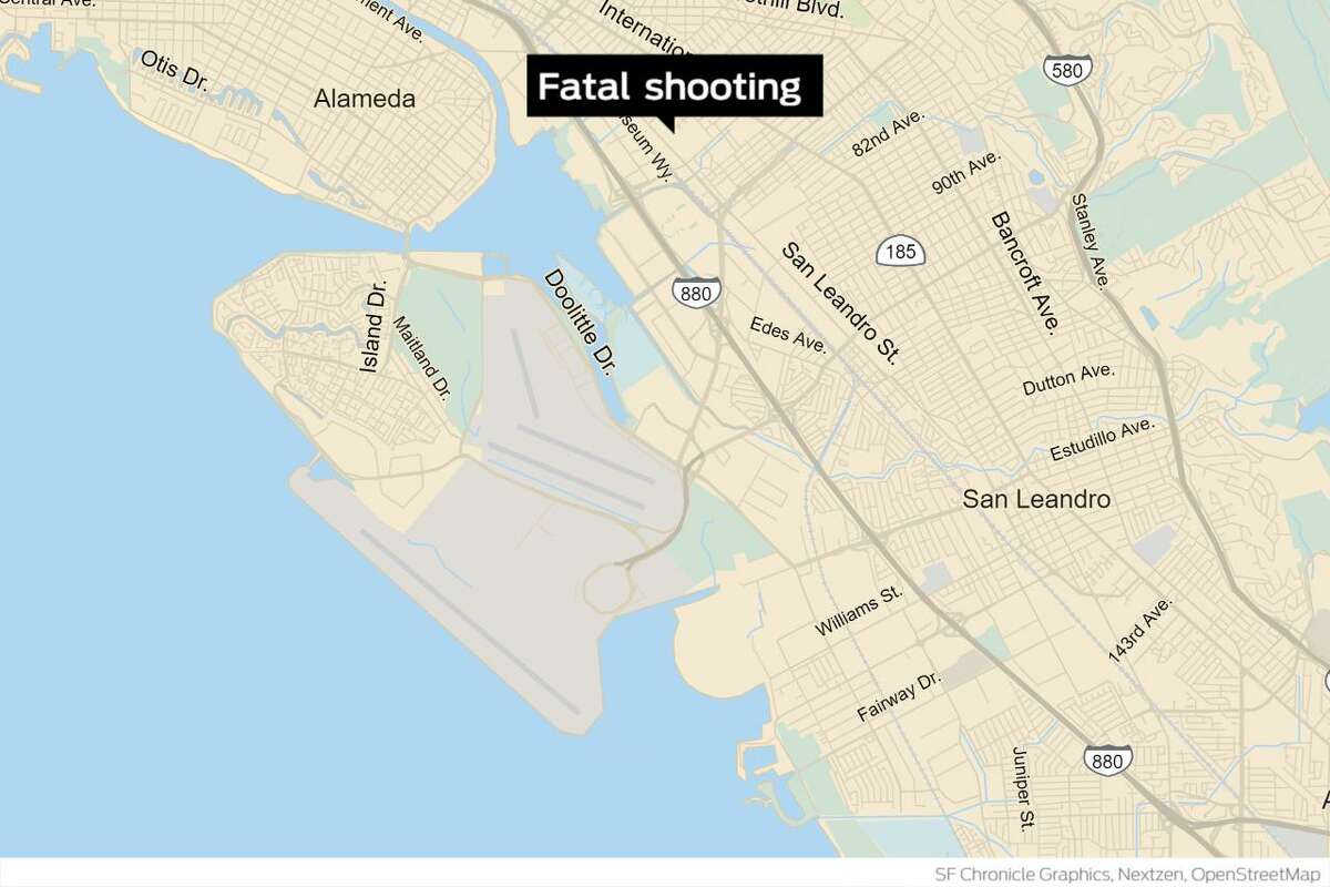 Map shows the location of a fatal shooting Monday in the 1100 block of 62nd Avenue in Oakland, one of two that took place in the city this week.