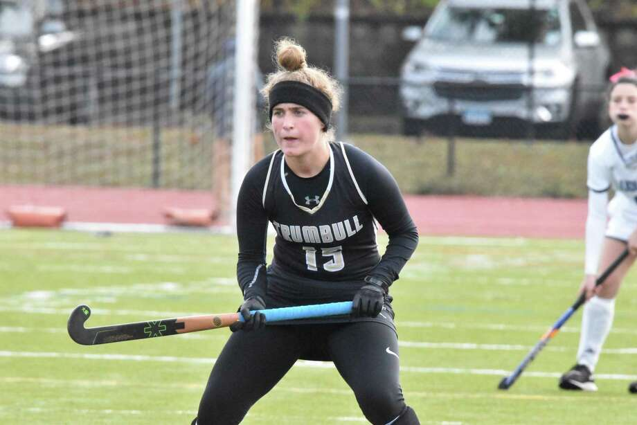 Trumbull's Gianna Socci had a goal and two assists to help the unbeaten Eagles defeat Ludlowe. Photo: Trumbull Athletics / Contributed Photo / Trumbull Times