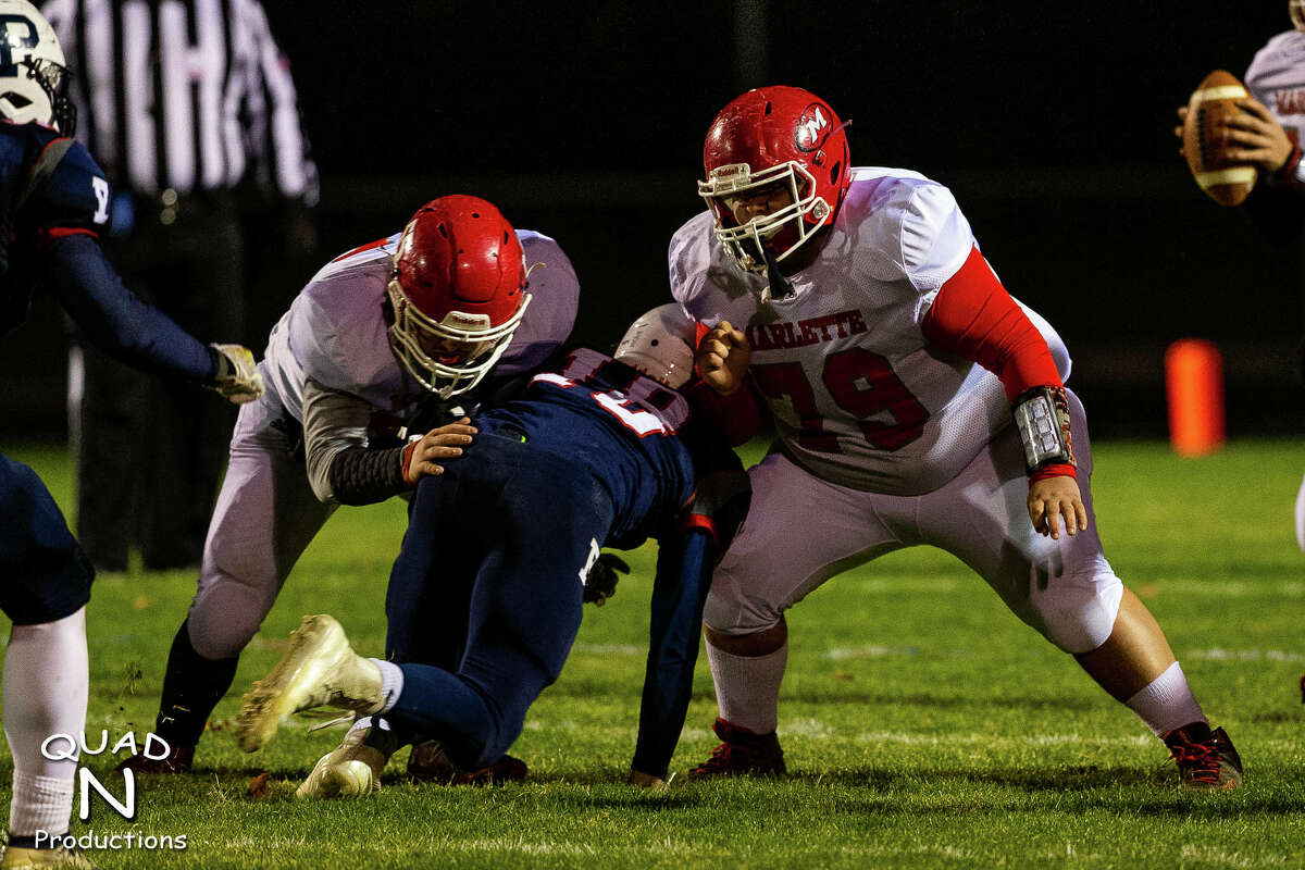 The Unionville-Sebewaing Area varsity football team thumped Marlette, 57-14, on Friday night in Week 1 of the MHSAA playoffs.