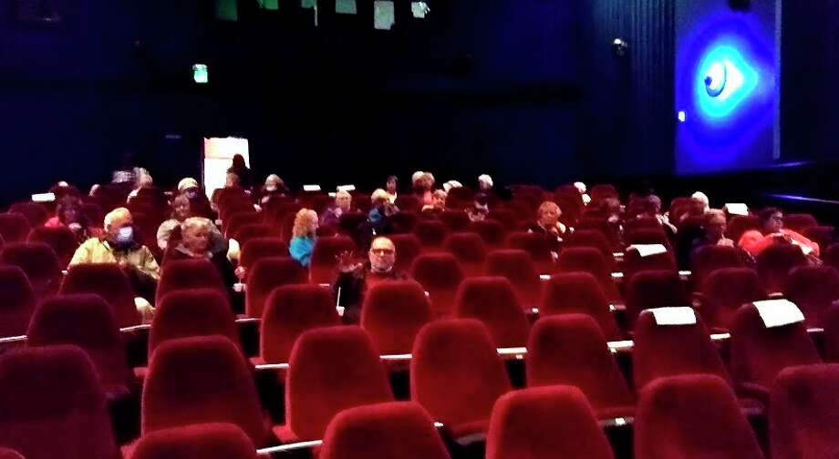 Nearly 45 seniors attended the senior center's Double Feature at the Vogue Theatre outing. (Courtesy Photo)